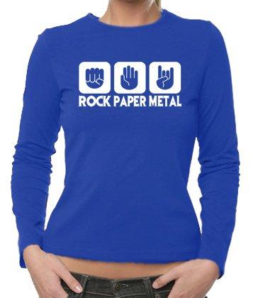 Stone Rock, Heavy Metal,-Maglietta a maniche lunghe da donna, taglie XS-XXL, colori diff. Blu blu XXL