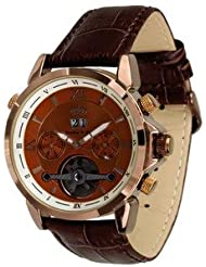 Lindberg & Sons Reloj Automático piraeus Esfera de Color Marrón y pulsera de piel