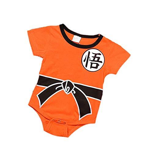 Babyspielanzugoverall Chinesische Schriftzeichen Dragon Ball Sun Goku Kostüm Niedliche - Kleinkind Goku Kostüm