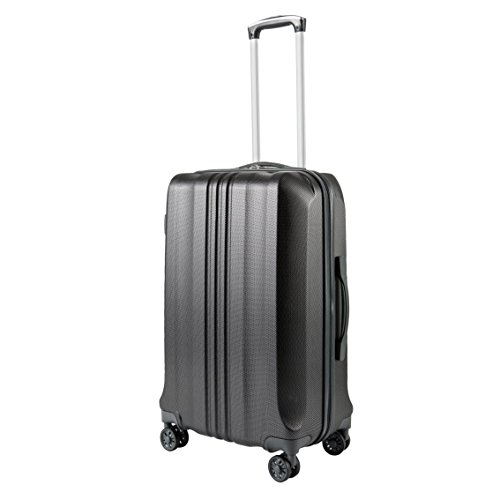 Pack.It Lightweight Carry On Cabin Hand Luggage, 4 Double Wheels 360º Spinner, Black, Approved for Ryanair, Easyjet and British Airways (Cabin Spinner)