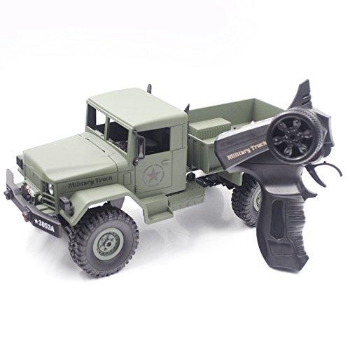 RC LKW Spielzeug für Kinder, Vicoki 1:16 USA LKW 2,4 GHz 4WD Geländegängige Monster Crawler Fernbedienung Auto Spielzeug Ferngesteuerte Fahrzeuge für Kinder, Elektrische Wiederaufladbare (Fernbedienung Für Lkw-spielzeug)