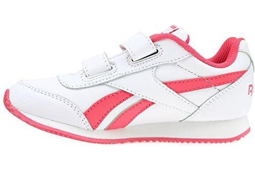 Reebok Royal Cljog 2 2v, Baskets Basses Bébé Garçon Blanco / Rosa (White/Fearless Pink)