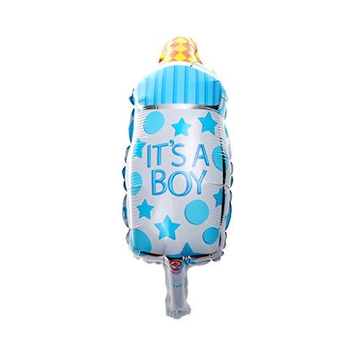 10 Globos Decoraciones Fiesta Cumpleaños Partido para Bebé Recién Nacido - Biberón Azul