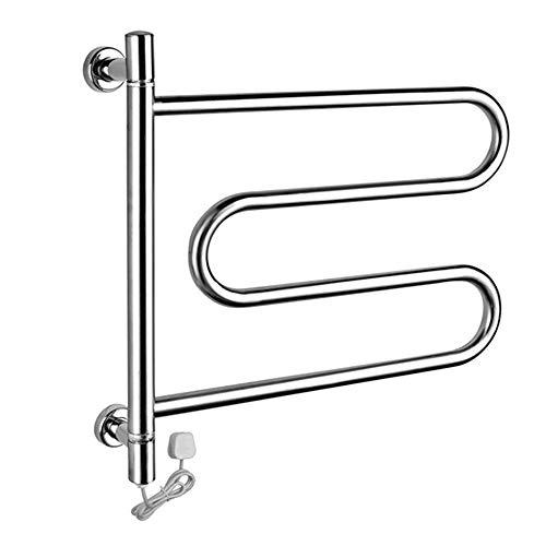 Household appliances Elektrisch beheizte Handtuchhalter für Badezimmer Thermostat Wand befestigt, Rostfreier Stahl Badezimmer Heizkörper Handtuchwärmer, Wäschesocken Wäscheständer Bad Lagerregal