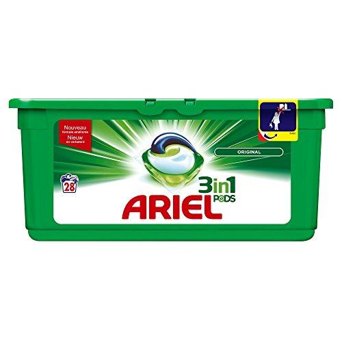 Ariel 3en1 PODS Original - Detergente En Cápsulas Superconcentrado: Limpia, Quita Manchas, Ilumina En 1 Lavado, 114 Lavados (3 x 38)