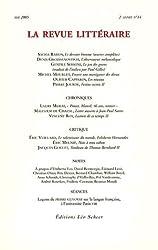 La Revue littéraire, N° 14, Mai 2005 :