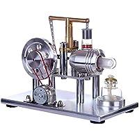 MRKE Motor Stirling Kit Baja Temperatura Generador Equilibrar DIY Air Stem Steam Stirling Engine Kit Física Ciencia Experimentar Enseñanza Juguete y Regalo