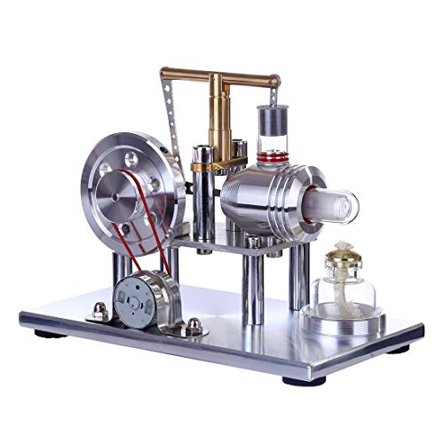 MRKE Stirlingmotor Bausatz Balance Niedertemperatur Generator Stirling Engine Model Kit Physik Wissenschaft Experiment Unterricht Steam DIY STEM Spielzeug Geschenk - Model Engine