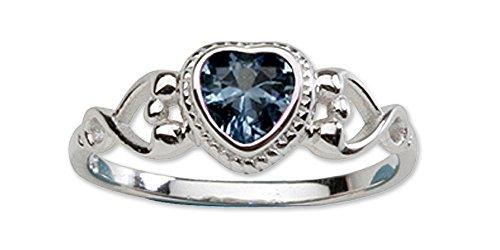 Precious Pieces  -  0,925  Sterling-Silber 925     Oxyde de Zirconium  Kinder-ringe Für Mädchen Birthstones