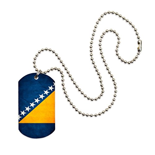 Bosnia Flag Color Dog tag Necklace Pendant 24