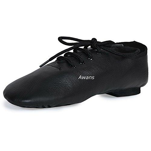 Zapatos baile jazz piel pura suela dividida, color