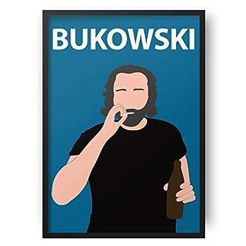 Charles Bukowski // Kunstwerk – minimalistisch – inspirierend – Retro Art – Minimalist – Inspirational – Colourful – Minimalist