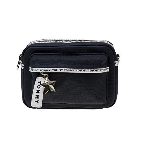 Tommy Hilfiger Logo Tape Damen Cross Body Bag Blau (Logo Body Cross)