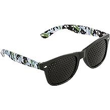 Occhiali forati, Green House Unisex Pinhole Glasses Occhiali Stenopeici per la Cura Della Vista e per un Miglioramento della Capacità di Visiva