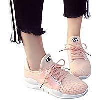 Sonnena Chaussures Femmes Chaussures de Sport Baskets à Lacets Jogging Mode  Casual Chaussure Maille Respirant Couleur 022030bab4bc