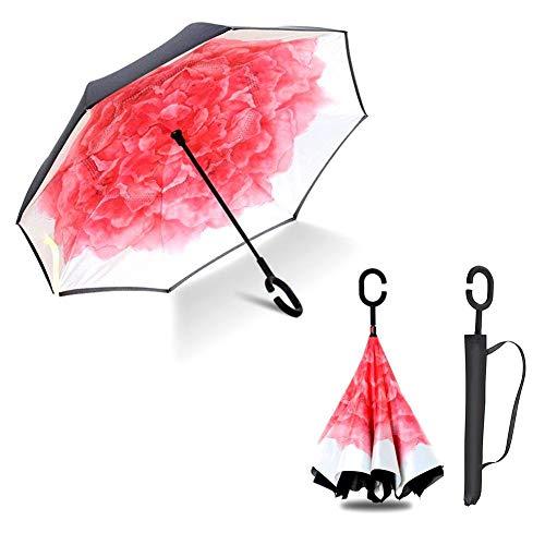 Sonnenschirm, faltbar, UV-Schutz, Schutz in C-Form mit Deckel für Auto im Freien, bruchsicher,...