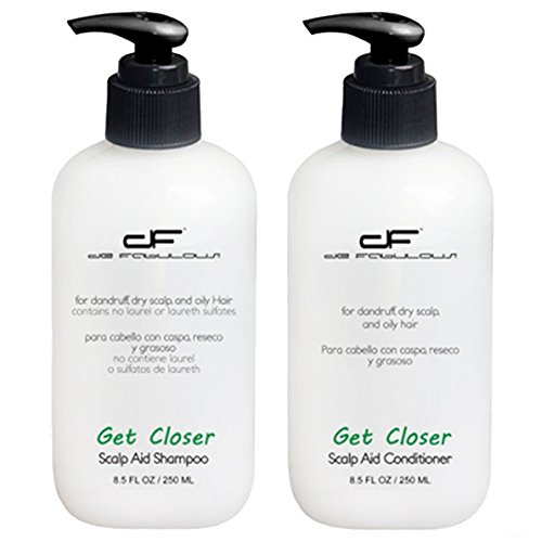 De Fabulous Get Closer Shampoo and Conditioner Set (for dandruff, dry scalp and oily hair) sulfate free (8.5 fl oz)