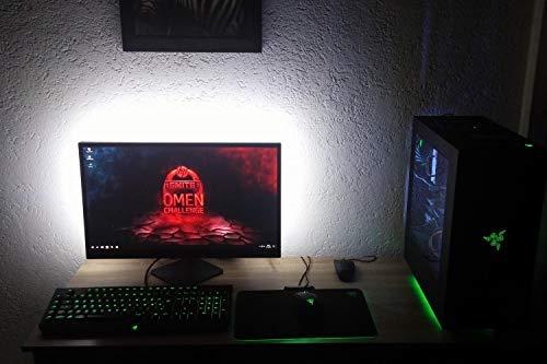 De Éclairage Led Tv 65 Blanc Pour 6500k Lumière 32 Rétro Lighting Bande Bias CeWrBdox