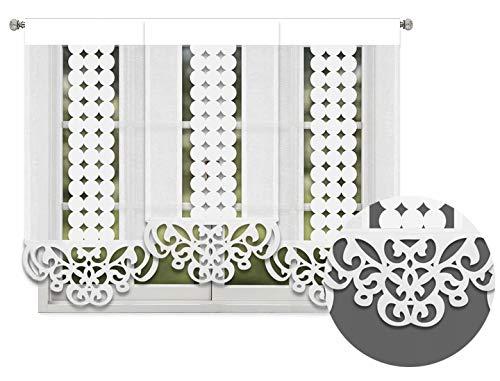 Inox Trade Flächengardine Schiebegardine Paneel Fertiggardine Gardine Vorhänge Paneelwagen 180x150cm Flächenvorhang