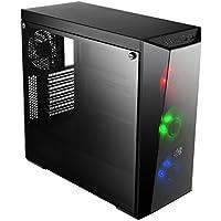 Cooler Master MasterBox Lite 5 RGB Boîtiers PC 'ATX Micro-ATX Mini-ITX Comprend 3 ventilateurs RGB de 120 mm Panneau latéral en verre trempé' MCW-L5S3-KGNN-02