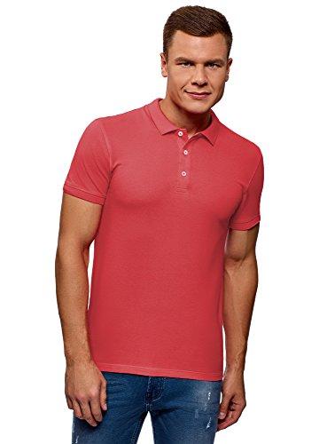 4700n Farbe (oodji Ultra Herren Pique-Poloshirt, Rosa, DE 56 / XL)