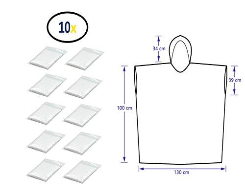 für Damen, Herren & Kinder 140-190 cm – kompakt und leicht - 10er Pack ()