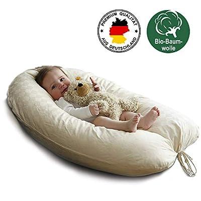 100% natürliches Stillkissen mit Bezug aus Bio-Baumwolle und Füllung aus Kapok (Pflanzendaune). Perfekt als Lagerungskissen in der Schwangerschaft oder für Seitenschläfer…