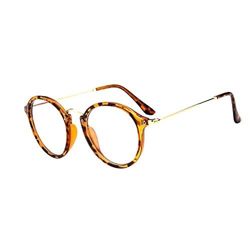 Zhuhaixmy Retro Kurz Entfernung Brillen Cat Eye Groß Runden Felge Kurzsichtigkeit Kurzsichtig Komfortabel Brille Blau Licht Filter Linsen (Stärke -1.0, Leopard) (Diese sind nicht Lesen Brille) (Orange Cat-bild-rahmen)