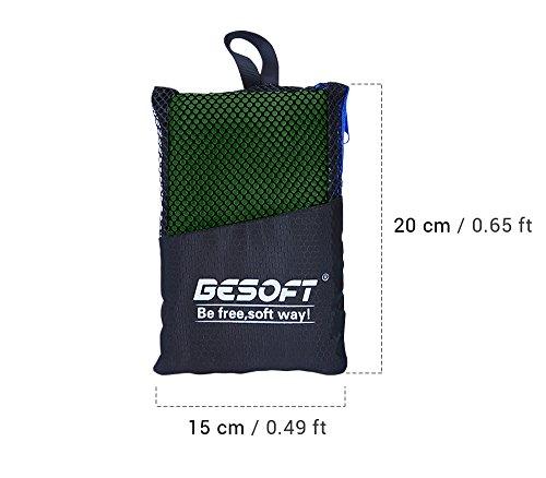 Ultrasaugtuch aus Mikrofaser für schnelles Trocknen, Badetuch, ist ideal für das Strand- und Schwimmbad, für Camping, für die Sporthalle, für Pilates oder Tanzen geeignet