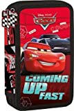 Kinder Federtasche Disney PIXAR - Cars 3 Federmappe 21 x 12 cm Federmäppchen Junge zwei große Fächer Doppelreißverschluss 26 Teile gefüllt