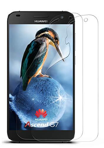 moex 2X Huawei G7 | Schutzfolie Klar Bildschirm Schutz [Crystal-Clear] Screen Protector Display Handy-Folie Dünn Bildschirmschutz-Folie für Huawei Ascend G7 Bildschirmfolie