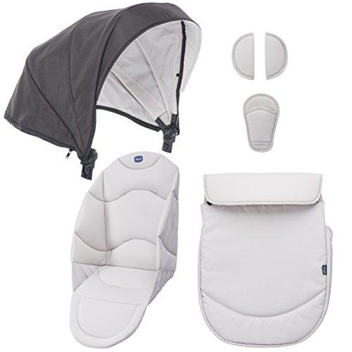 Chicco Urban Color Pack - Set de accesorios: capota + cubrepiernas + kit confort, color beige