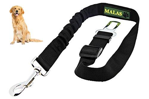 Sicherheitsgurt für Hunde im Auto, mit elastischer Dämpfung, in hochwertigster Premium Qualität - Länge stufenlos verstellbar mit einem Karabiner zur einfachen Handhabung - Für sichereres Reisen
