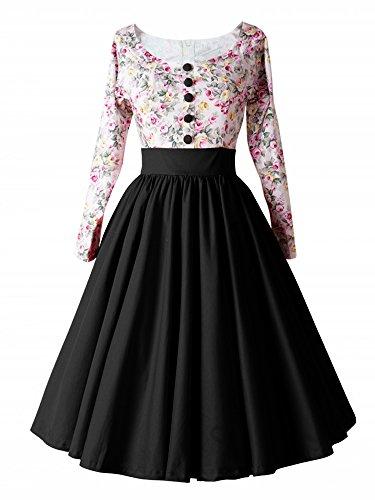 luouse-1950er-retro-vintage-geblumten-patterned-cocktailkleid-faltenrock-kleidredblacks