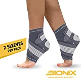 Ankle Support Brace (Pair) - Adjustable Foot Compression Sleeve Strap Socks |