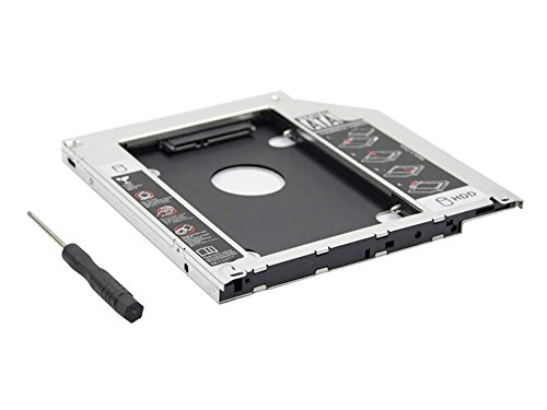 OSST 2 nd Caddy 12,7 mm Box für Apple iMac Mini A1283 A1347 A1311 (54,6 A1312 SATA HDD SSD auf CD...