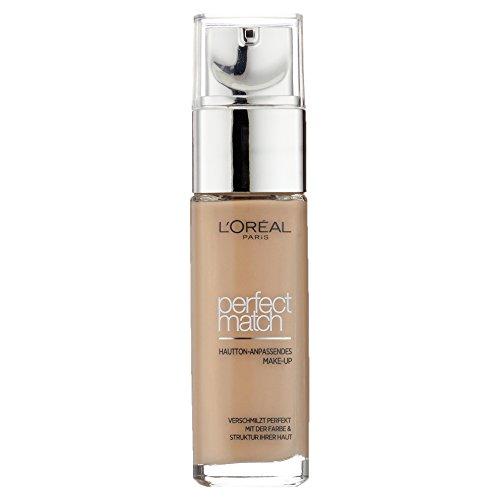 L'Oréal Paris Perfect Match Foundation, flüssiges Make-Up, deckend und feuchtigkeitsspendend für einen natürlichen Teint - 4N beige (30 ml) - Beige Flüssig-foundation