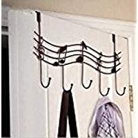 XINYUAN Music Note Style Metal Coat Hanger Wrought Iron Rack Robe Hooks