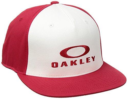 Oakley Sliver 110 Flexfit Hat Cap, Red Line, One Size