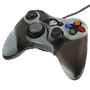 OSTENT Camouflage weichen Silikon Skin Tasche Tasche kompatibel für Microsoft Xbox 360 Controller – Farbe grau