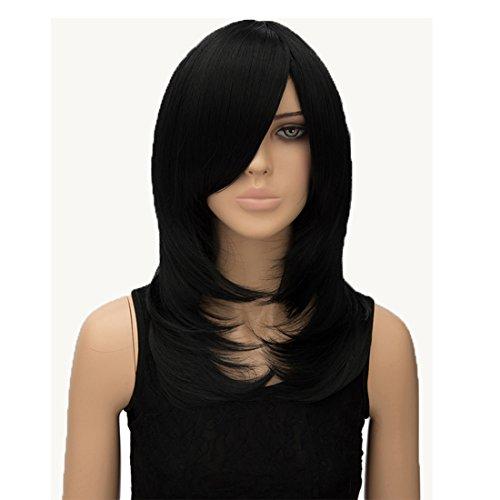 priomix Innen 50cm mid-long gerade Gelockt side-bangs Täglich Cosplay Perücken für Frauen