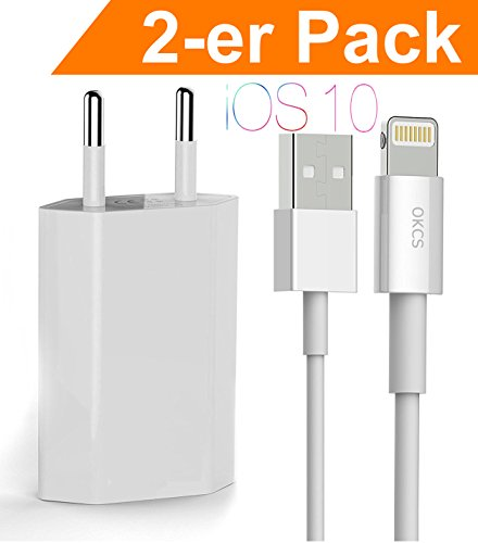 [ PRIME DAY SPECIAL-DISCOUNT ] OKCS iPhone Ladeset 2-er Pack - Ladekabel...