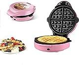 LIANYANG Macchina per muffin multifunzione,2 in 1 Macchina per muffin elettrica Rivestimento antiaderente Macchina per muffin per riscaldamento a doppio lato Ferro da stiro(Colore:rosa,Dimensioni:26x1