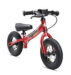 BIKESTAR Kinder Laufrad Lauflernrad Kinderrad für Jungen und Mädchen ab 2-3 Jahre | 10 Zoll Sport Kinderlaufrad | Rot