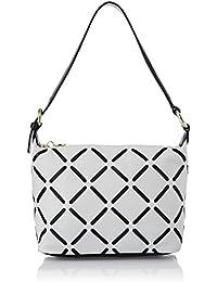 Hidesign Women's Handbag (White And Midnight Blue)