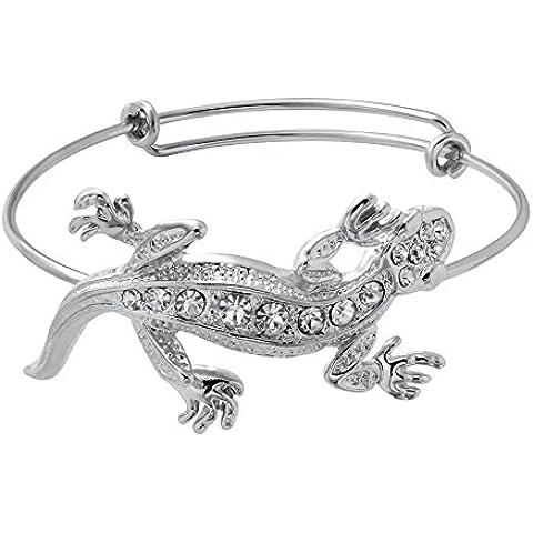 senfai Fashion Crystal Lagarto Animal Deisgn ampliable 3colores pulsera pulsera de alambre ajustable pulsera hembra joyas