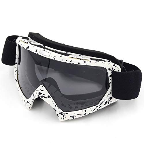 KnSam Winddicht Uv-Beständig Taktische Schutzbrille Kratzfester Scheibe Panoramablickfeld Weiß, Schwarz, Grau Schutzbrille