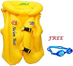 Aaina ARFA - Swim Vest - (Step A) -JACKET-596 in 3 Air Section Free Swimming Googles.