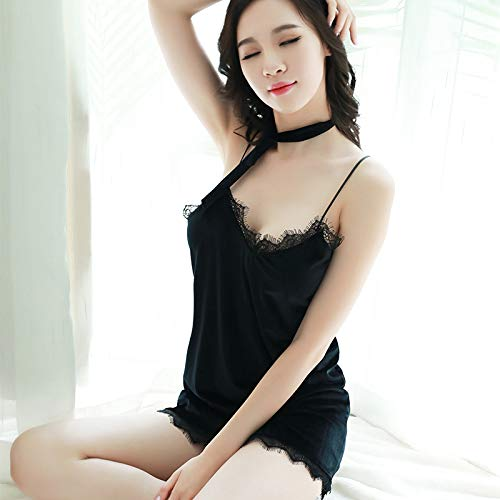 KEDCD Handschellen Sexspielzeug Sexy weiblicher sexy heißer Erwachsener Spitzensamt, der das Nachthemd verdickt