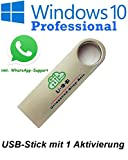 U-S-B Unleashed-Shop-Bolt MS Windows 10 Pro Professional USB Stick bootfähig 32 Bit / 64 Bit - Vollversion - Lizenz Key - Original Lizenzschlüssel - 1 Aktivierung / 1 PC - DEUTSCH + Anleitung